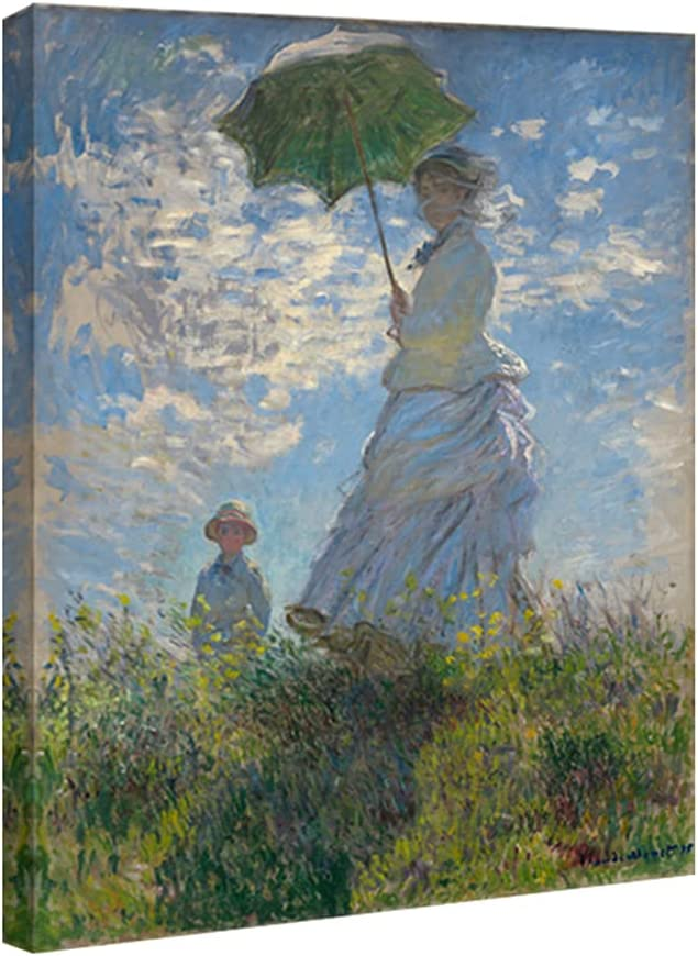Wieco Art Recommended Woman with a Parasol Quantity limited Madame Her Monet and Son Canvas P
