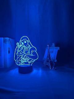 Acrylic LED Night Light Anime Bedroom Decor Light for Kid Child Birthday Gift Illumi Zoldyck Figure 3D Lamp Illusion Light...