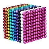 Cushion 1000 Piezas de hematita magnética de 5 mm, Cuentas Redondas Sueltas, Entretenimiento para niños, Juguete, Trabajo, descompresión