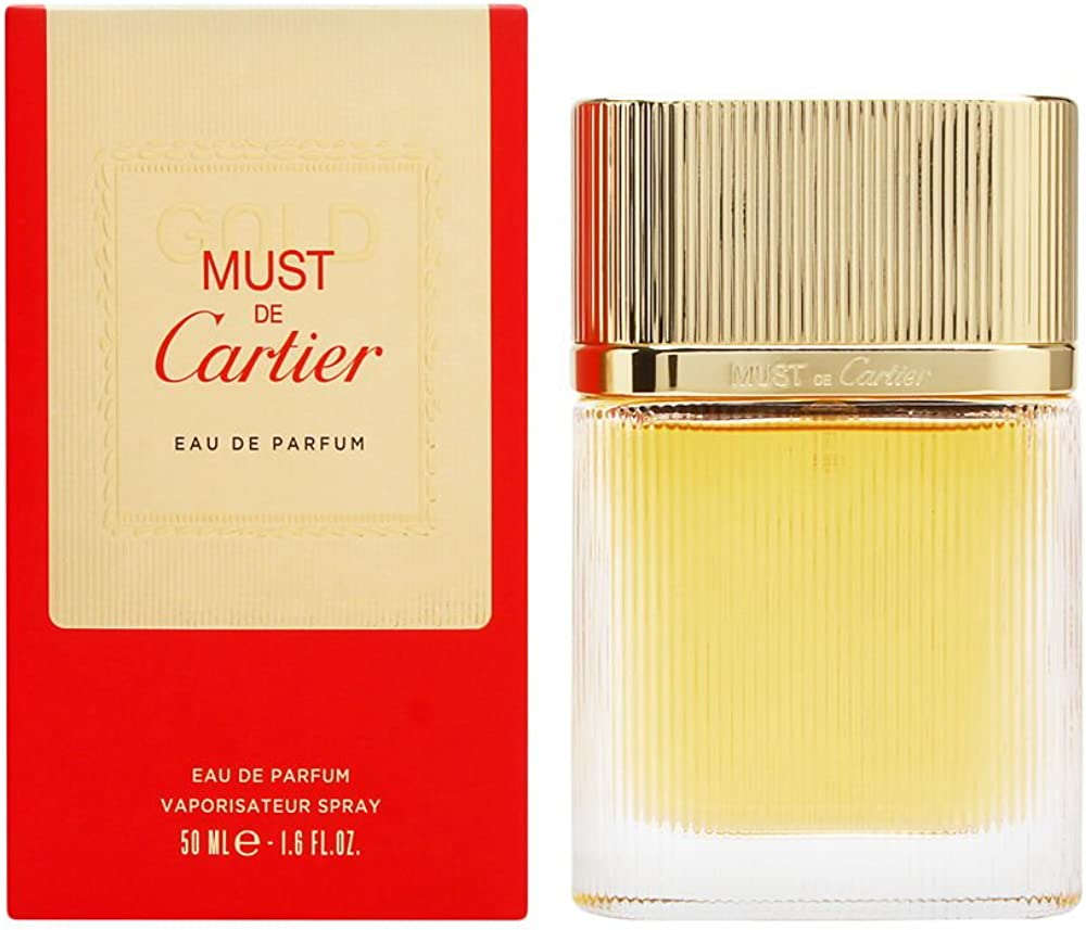 Cartier must de cartier gold, eau de parfum,profumo per donna, 50 ml 3432240500403