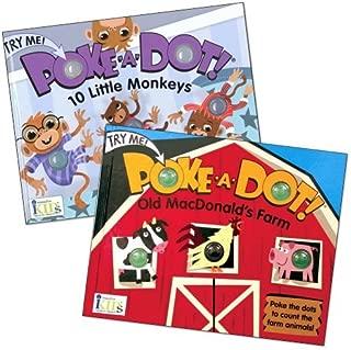 Innovative Kids Poke-A-Dot Monkey & Farm Book Set