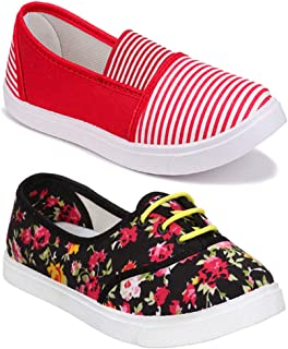 Shoefly Women Multicolour Latest Collection Sneakers Shoes- Pack of 2 (Combo-(2)-11021-611)
