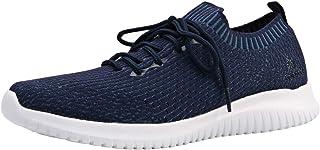 Kelanda Men's Walking Shoes Gym Tennis Comfortable Lightweight Breathable Slip On Sports Shoes