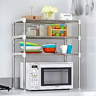 4-Shelf Kitchen Storage Rack with Waterproof and Rustproof for Kitchen, Bathroom, Bedroom