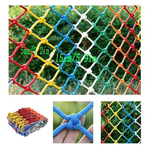 Hausschutznetz Fenster Child Safety Net.Fesselnder Treppen Industrie Polyester Mesh Isolation Net Zaun-Netz Farbe Dekorative Net handgewebte Netz Cat Net Seildicke 5mm / Grid 15 cm (Größe: 1x8m)