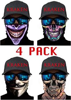 Face Shield, Balaclava, Neck Gaiter, Scarf, Bandana, Headband for Dust/Sun/UV Protection