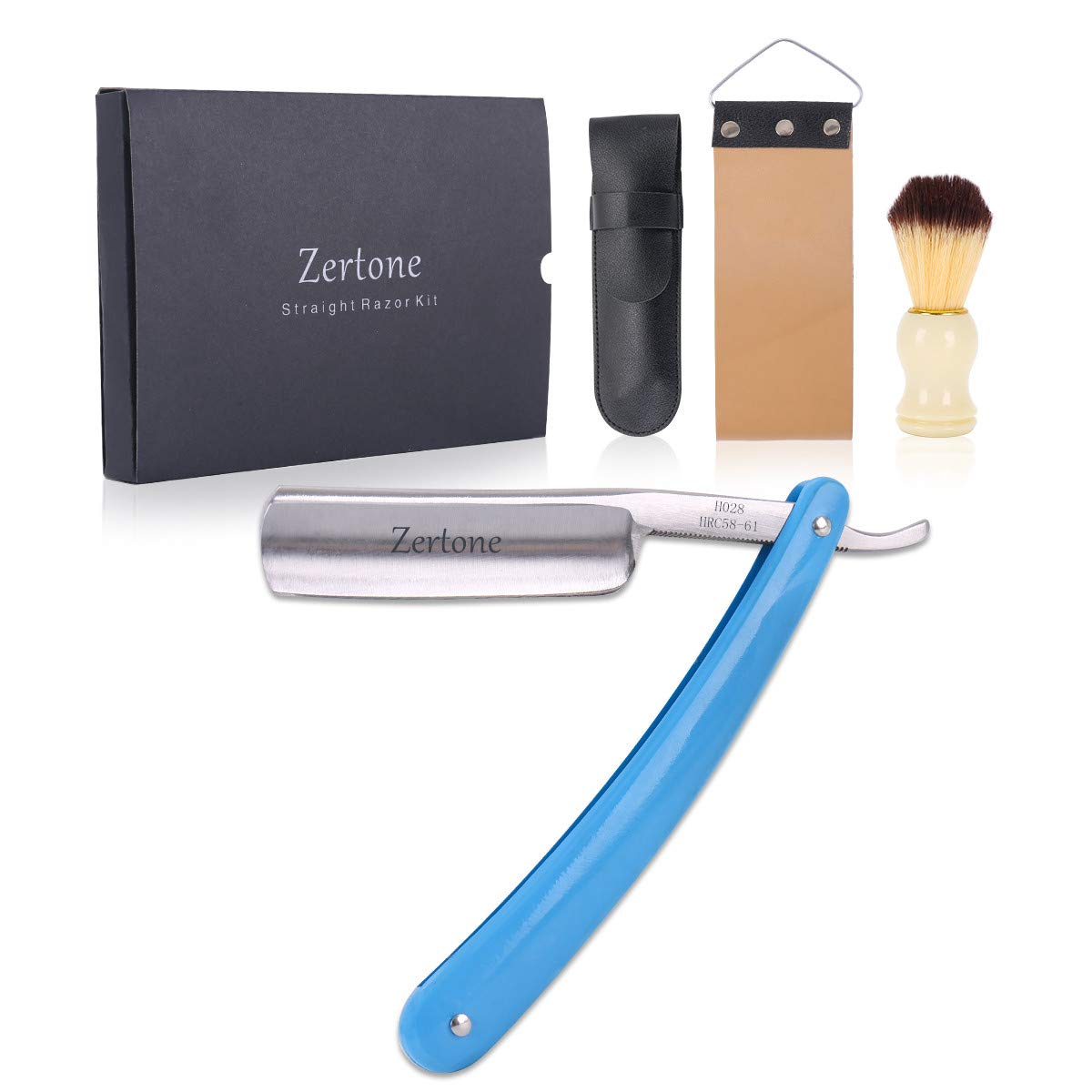 Zertone Straight Max 57% OFF Max 48% OFF Razor Kit with Hair and Leather Brush St Strop
