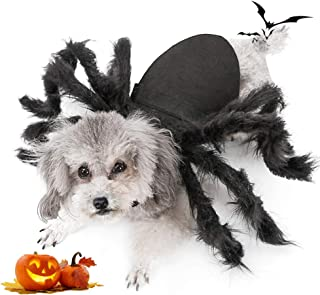 Spider Dog Costume, Pet Halloween Cosplay Costumes for Cat Dog, Funny Party Dress up Accessories