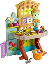 Fisher-Price Laugh & Learn Grow-the-Fun Garden to Kitchen, interactive farm-to-kitchen playset for toddlers with music, li...