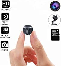 Mini Spy Camera Wireless Hidden, DEXILIO Full HD 1080P Portable Small Covert Home Nanny Cam with Night Vision, Indoor/Outdoor Micro Security Surveillance Hidden Camera(with 32GB Card)