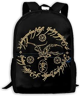 Lord of The Rings Tolkien Waterproof School Backpack for Boys Girls Durable Travel Backpack