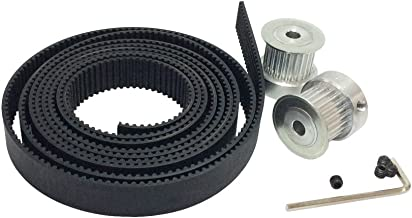 BEMONOC 2Pcs/pack HTD 3M Timing Pulley 25 Teeth Bore 6mm 8mm 12mm and 3Meters 3M Rubber Open Timing Belt Width 15mm for Laser Engraving CNC Machines