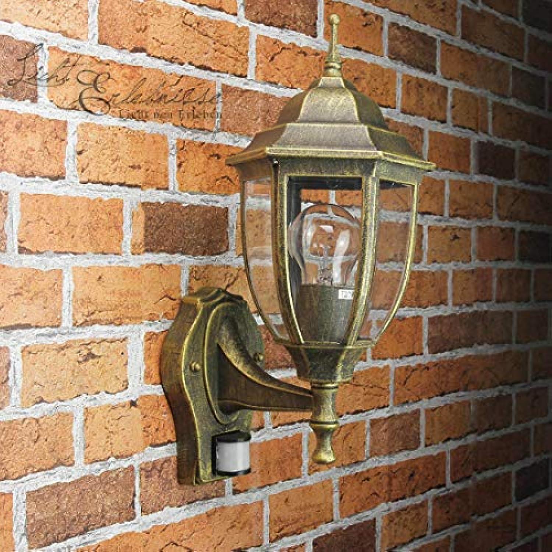 Edle LED Energiespar-Auenwandleuchte 12 Watt in antik mit Bewegungsmelder Wa...