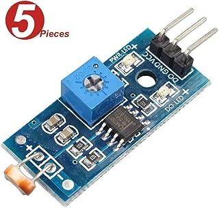 WINGONEER 5Pcs Digital Light Intensity Sensor Module Photo Resistor Photoresistor for Arduino UNO
