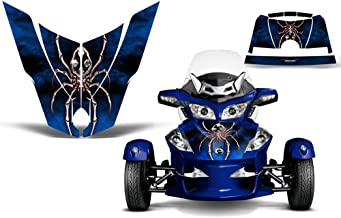 CreatorX Can-Am Brp Spyder Rt Hood Graphics Kit SpiderX Red Blue XL