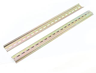 2Un. Ranurada Metal 35mm DIN montaje Rail 40cm de Longitud para AC Contactor