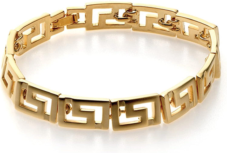 Classical Meander Link Bracelet