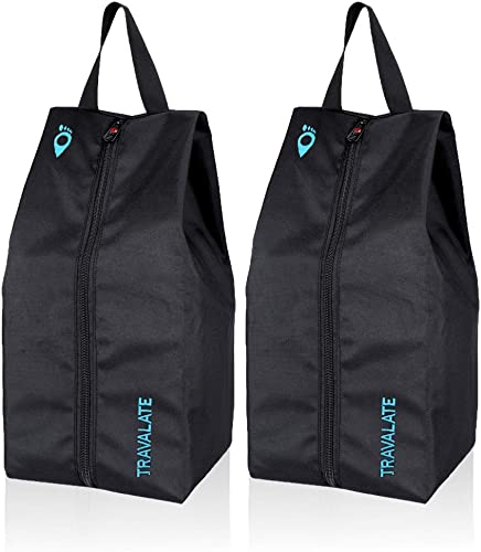 Polyester Shoe Bags Set Of 2 Black Blue TR1335