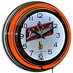 Leinenkugel Beer Logo 15 Red Double Neon Wall Clock