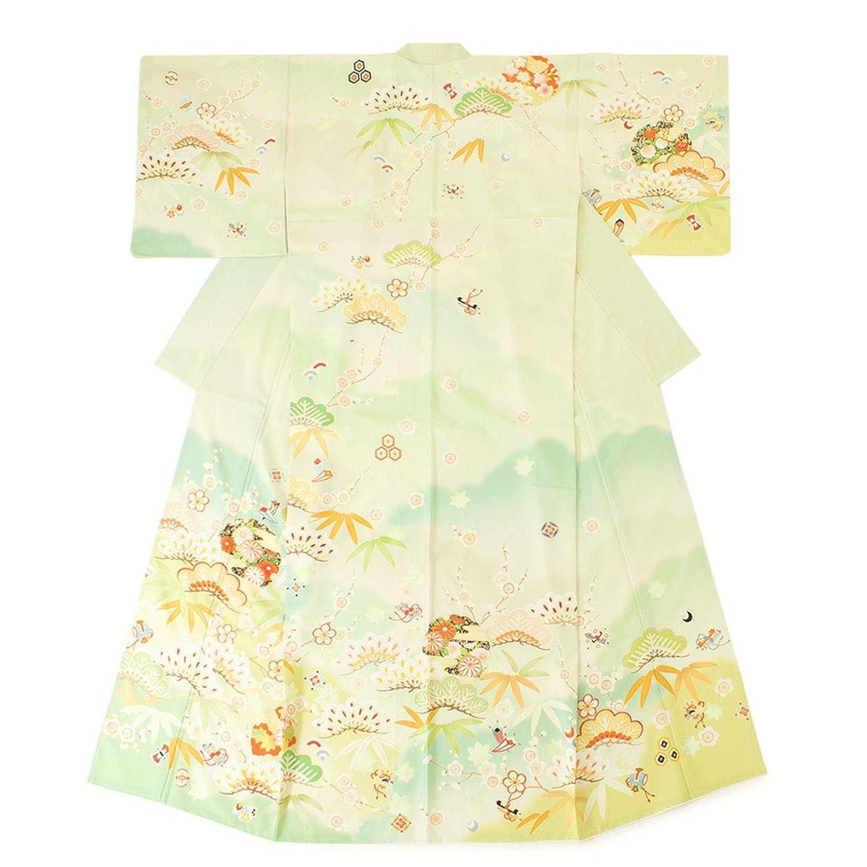 (ソウビエン) JAPAN STYLE(ジャパンスタイル) 訪問着 薄緑色 カラフル 松竹梅 宝づくし 雲取り 雪輪 ぼかし 礼装 フォーマル 仕立て上がり