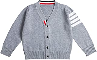 Fairy Baby Boys Cable Knit Sweater Cardigan V Neck Spring Fall Long Sleeve School Uniform