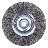 EMILYPRO 6' Crimped Steel Wire Wheel Brush | Coarse Crimped Wire 0.012' with 1/2' and 5/8' Arbor Hole for Bench Grinder - 1PC