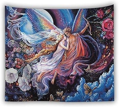 Europa y América Colgar Lienzo Pintura al óleo Hermosa tapicería ...