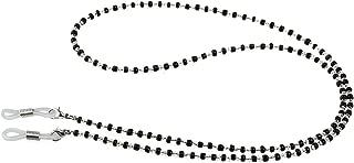 Eyeglass Chain - Pixnor Crystal Beads Beaded Sunglass Chain (Black+Clear)