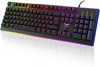 HAVIT HV-KB380L LED Backlit Wired Membrane Gaming Keyboard (Black)