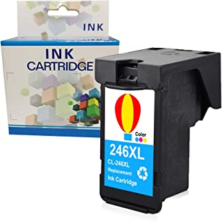 A1INK Refilled Ink Cartridge Replacement for Canon CL-246XL 246 XL 244XL Used for Canon PIXMA IP2820 MG2555 TS202 TS302 TS3120 MG3020 MG2420 MG2922 MG3022 MG2520 MG3029 2924 2520 2525 TR4520 (1Color)