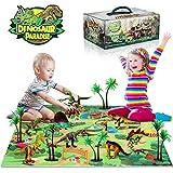 TTMOW Juego de Dinosaurios con 9 Figura de Dinosaurios, Tapete de...