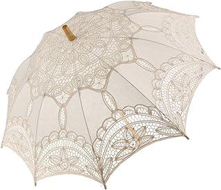 F Fityle Elegant Wedding Bridal Parasol Lady Long Handle Umbrella Wedding Décor