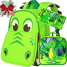 3PCS Dinosaur Backpack Toddler, 12'' Preschool Bag and Lunch Box for Boys Set