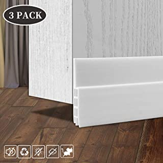 3 Pack Door Draft Stopper, Self-Adhesive Under Door Seal Fits for for Exterior and Interior Doors - Dustproof, Soundproof and Small Animals-Proof, 2