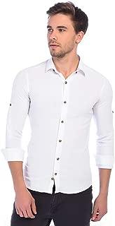 Manche Beyaz Bengalin Uzun Kol Erkek Gömlek | Me19S133144