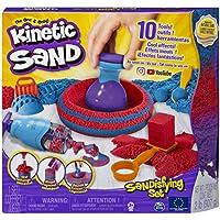Kinetic Sand 6047232 - Juego de 10 Herramientas y moldes (907 g)