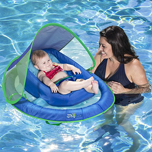 SwimWays Infant Baby Spring Float with Adjustable Sun Canopy - Best Baby Pool Float
