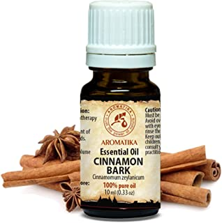 Zimt Ätherisches Öl 10ml - Cinnamomum Zeylanicum - Indien - 100% Reine & Natürlich Zimtöl - Zimtrindelöl für Gute Laune - Aromatherapie - Kosmetik - Öl Brenner - Raumduft