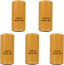 E-cowlboy 1R-0750 Advanced High Efficiency Fuel Filter Multipack, 2 Micron Cellulose Media Filter (5 PCS)