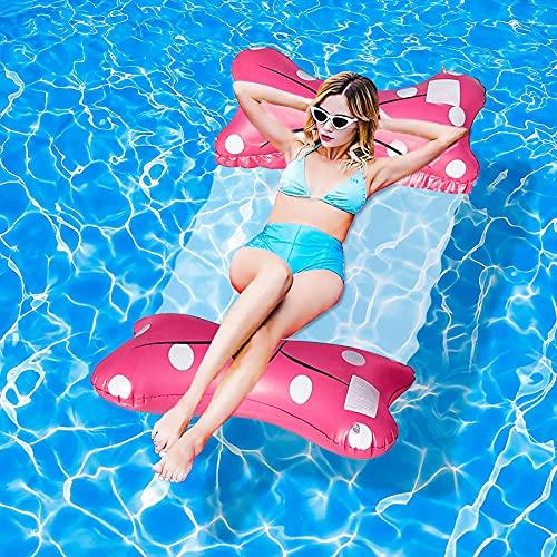 Aufblasbare Hängematte,luftmatratze pool,Aufblasbare Wasserhängematte,Aufblasbares Schwimmbett,Wasser Hängematte Pool,Luftmatratze Pool Schwimmbett mit Netz,Pool Aufblasbare Hängematte