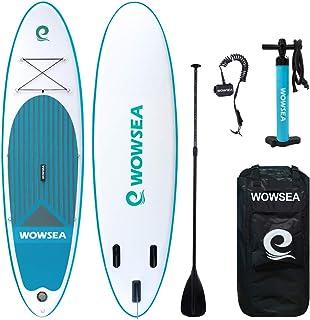 WOWSEA サップ SUP インフレータブル スタンドアップパドルボード 2人乗 サップボード 初心者 中級者 幅80cm 厚15cm 耐荷重150kg