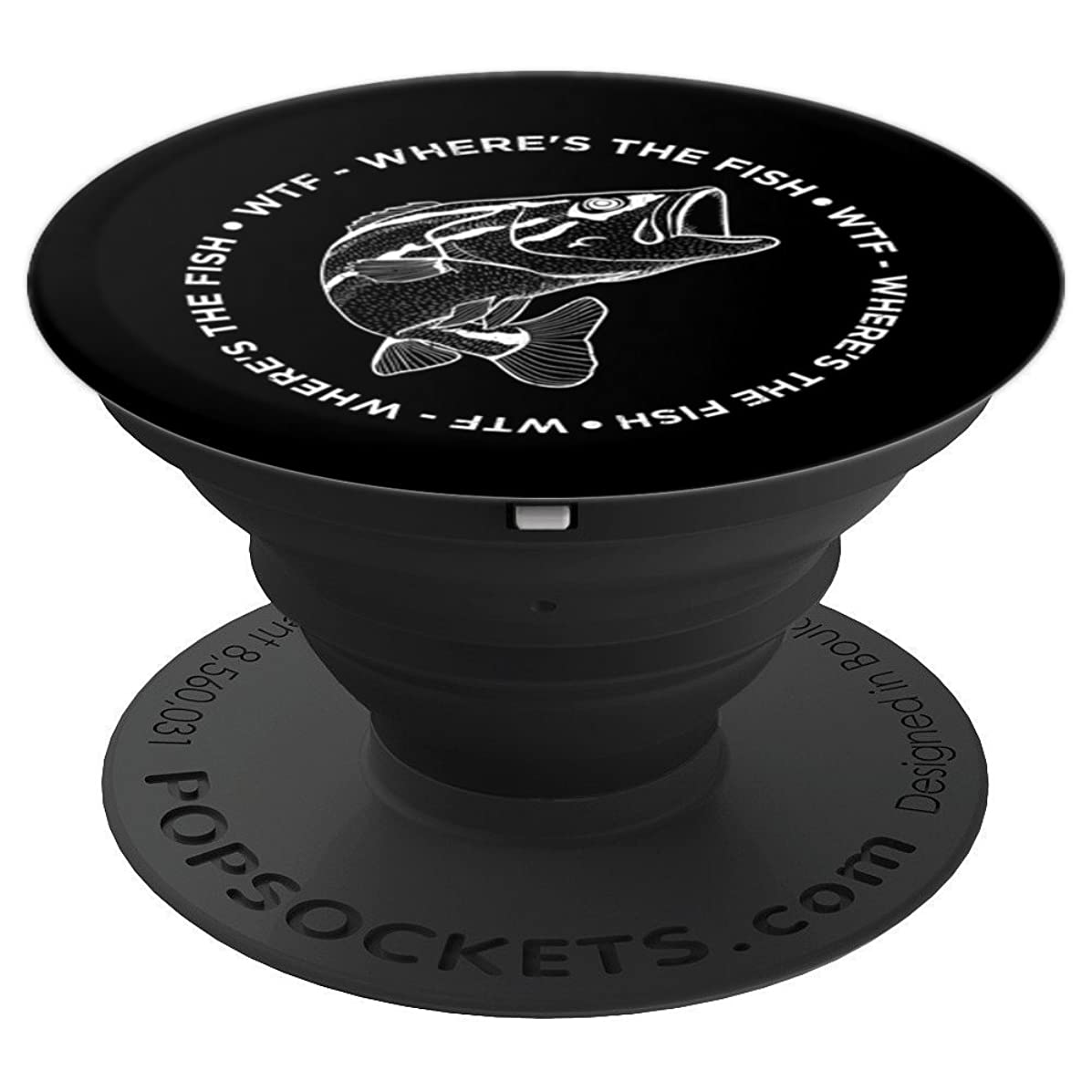 WTF Where's The Fish - PopSockets Grip and Stand for Phones and Tablets