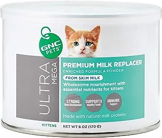 GNC Pets Ultra Mega Premium Milk Replacer Kitten Powder Formula 6 Ounces