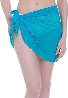 Women's Mesh Beach Sarong Waist Wrap Bikini Sheer Cover up Pareo Canga Swimsuit Mini/Short/Long Skirts