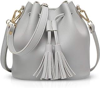 NICOLE /& DORIS Nouveau Sac Seau Femme Sac bandouli/ère bandouli/ère Portable Sac /à Main Sac /à Main Sacs /à Main pour Fille Blanc