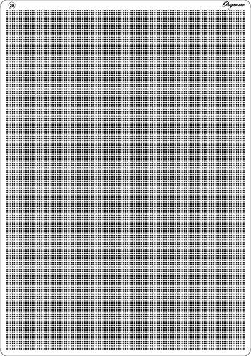 Pergamano - Cuadrícula para Repujado y perforación (A4, Recta), Color Gris
