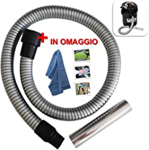 Tubo de repuesto para aspirador de cenizas Hashley Riu Lavor boquilla Pocker Kombo flexible de metal de 1 m Fridy