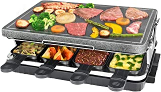 comprar comparacion Raclette de Piedra Natural para 8 Personas, Parrilla De Mesa, Steaklette Barbacoa Party Raclette Grill Control de Temperat...
