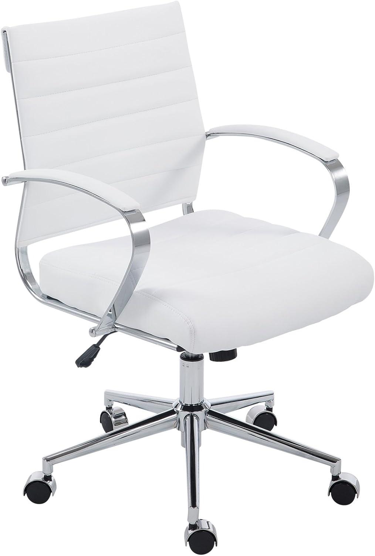 POLY & BARK EM-252-WHI Tremaine Office Chair, White