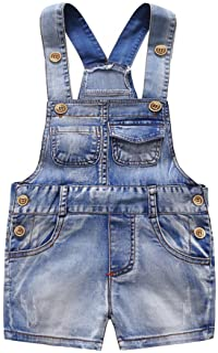 Kidscool Baby & Little Boys/Girls Cute Six Pockets Bib Denim Short Overalls